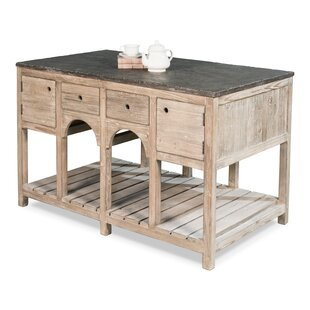 Sousa Kitchen Island with Stone Top