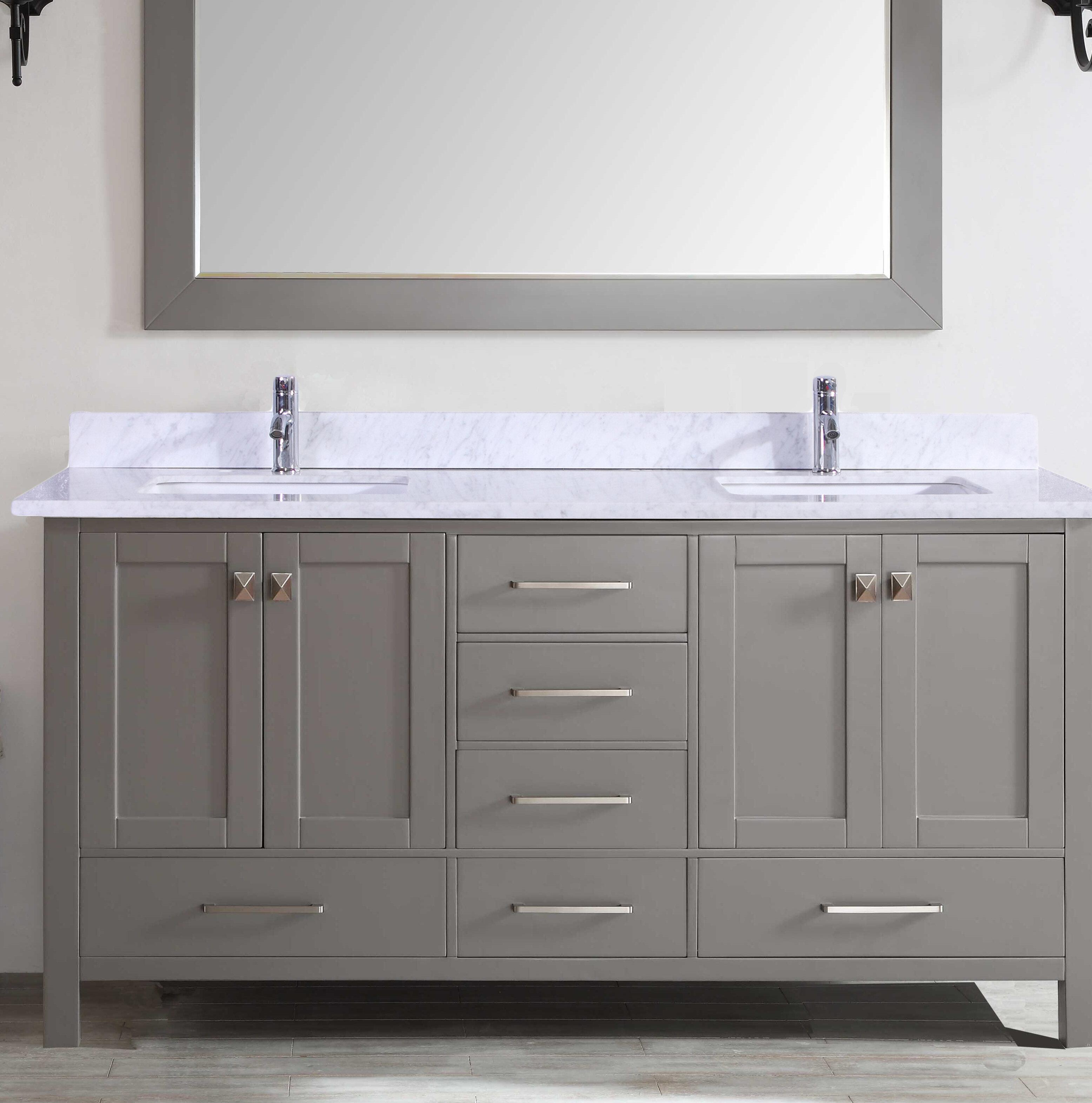 Brayden studio zeringue 84 double bathroom vanity set wayfair