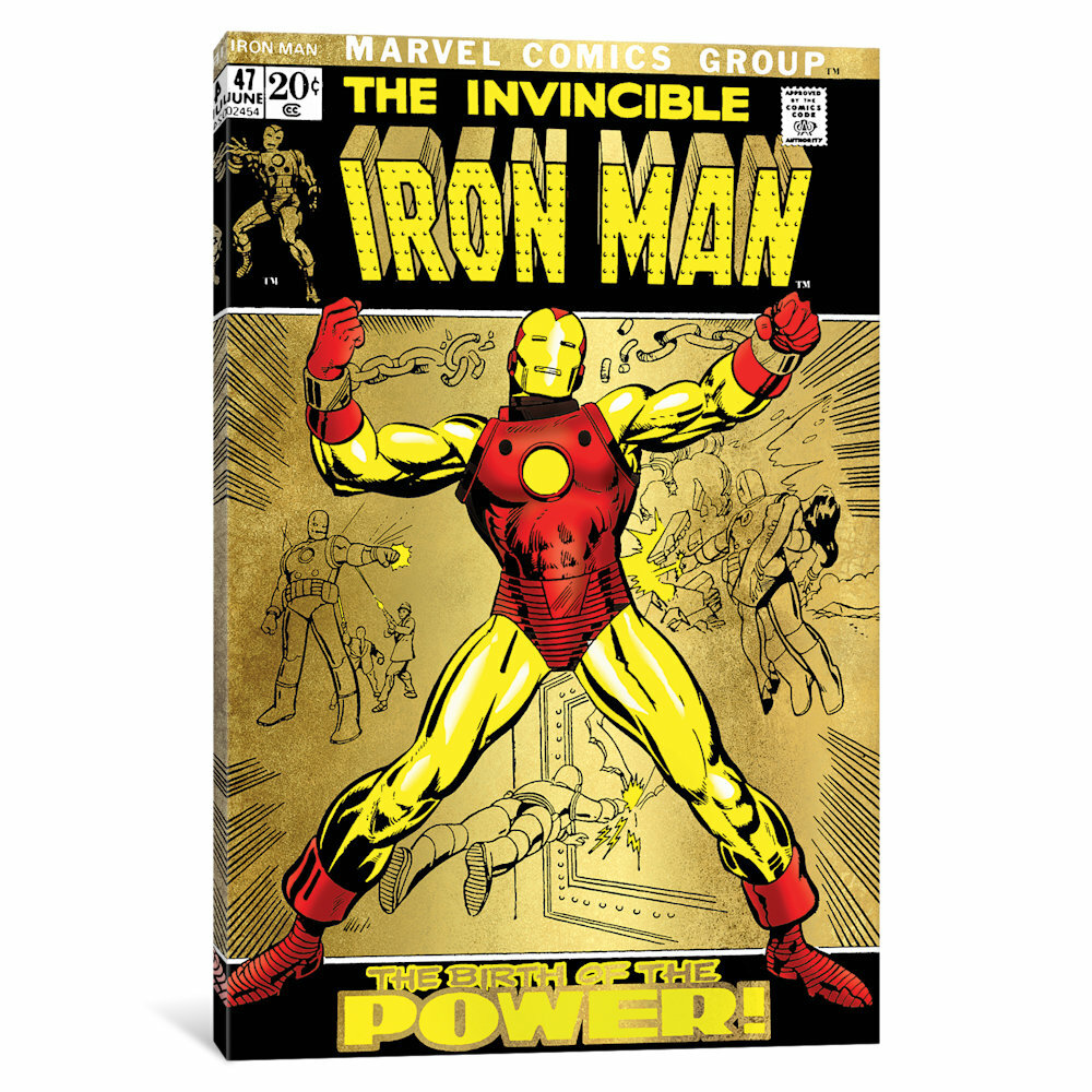 iCanvas \'Marvel Comics Retro The Invincible\' by Marvel Comics ...