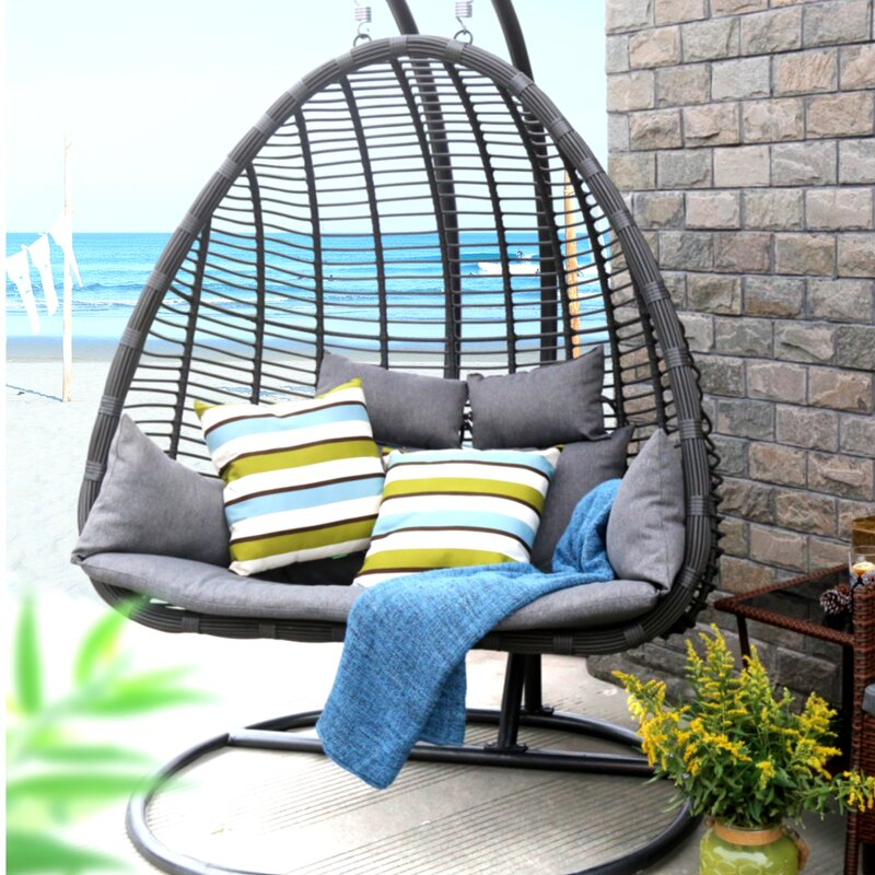 Baner Garden Swing Chair With Stand Wayfair