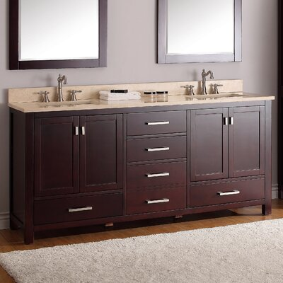 "Double Bathroom Vanity Photos avanity modero 73"" double bathroom vanity set & reviews 