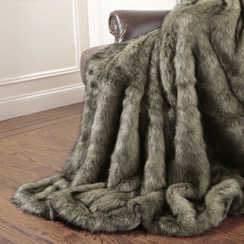 Tawny Fox Faux Fur Throw Blanket   Reviews  b87691db2898c