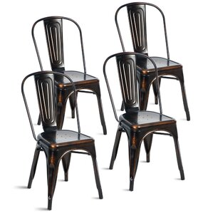 javier stackable tolix dining chair set of 4