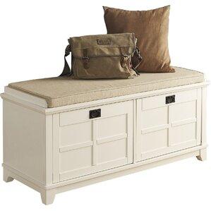 lexie fabric storage bench