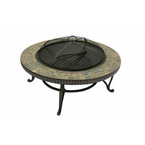 Great Joypanda Cast Iron Wood Burning Fire Pit With Natural Slate Table Top