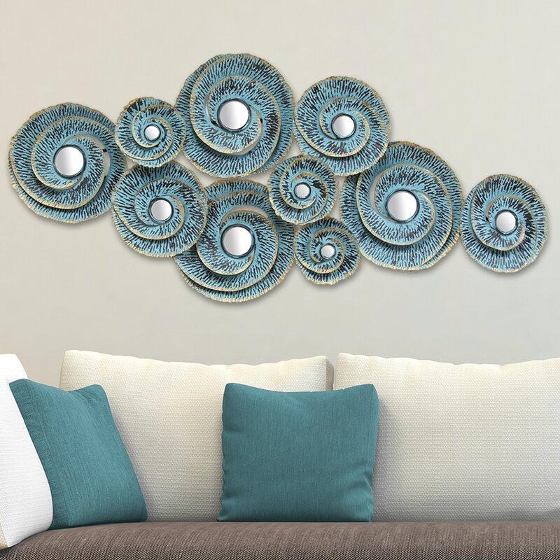 Marvelous Decorative Waves Metal Wall Décor