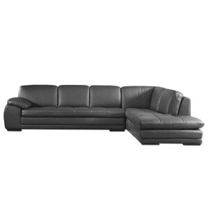 Stockbridge Leather Sectional  sc 1 st  AllModern : leather sofa with chaise lounge - Sectionals, Sofas & Couches