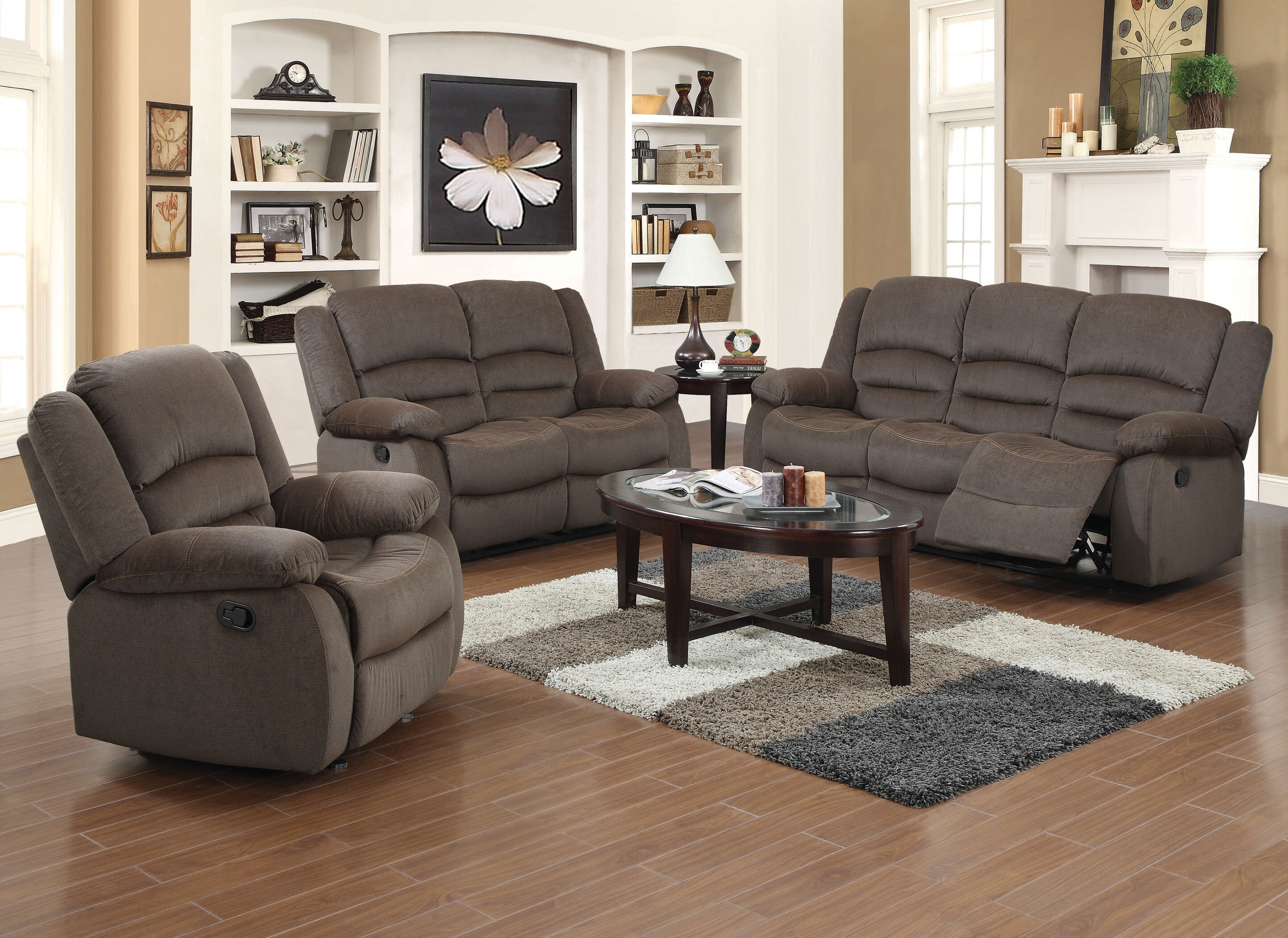 Red Barrel Studio Maxine 3 Piece Living Room Set U0026 Reviews | Wayfair