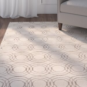 Meader Hand-Tufted Cream/Taupe Area Rug