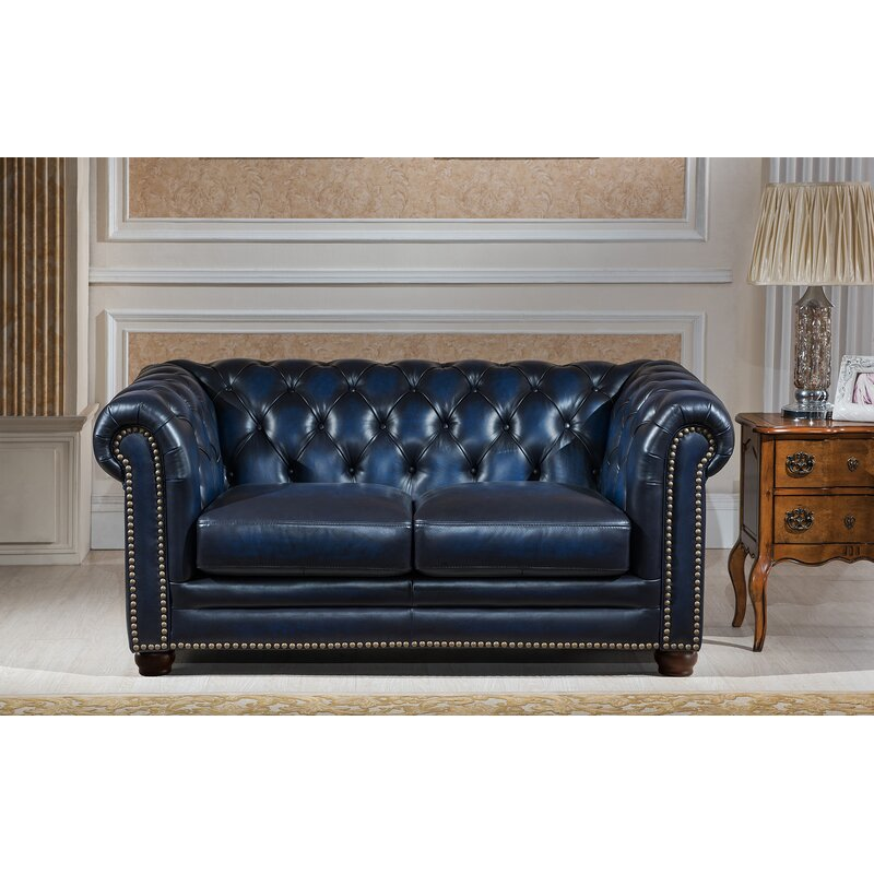 Amax Nebraska 3 Piece Leather Living Room Set