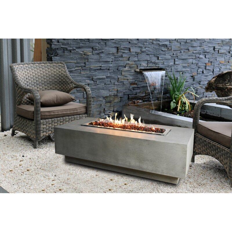 elementi granville concrete gas fire pit table wayfair. Black Bedroom Furniture Sets. Home Design Ideas