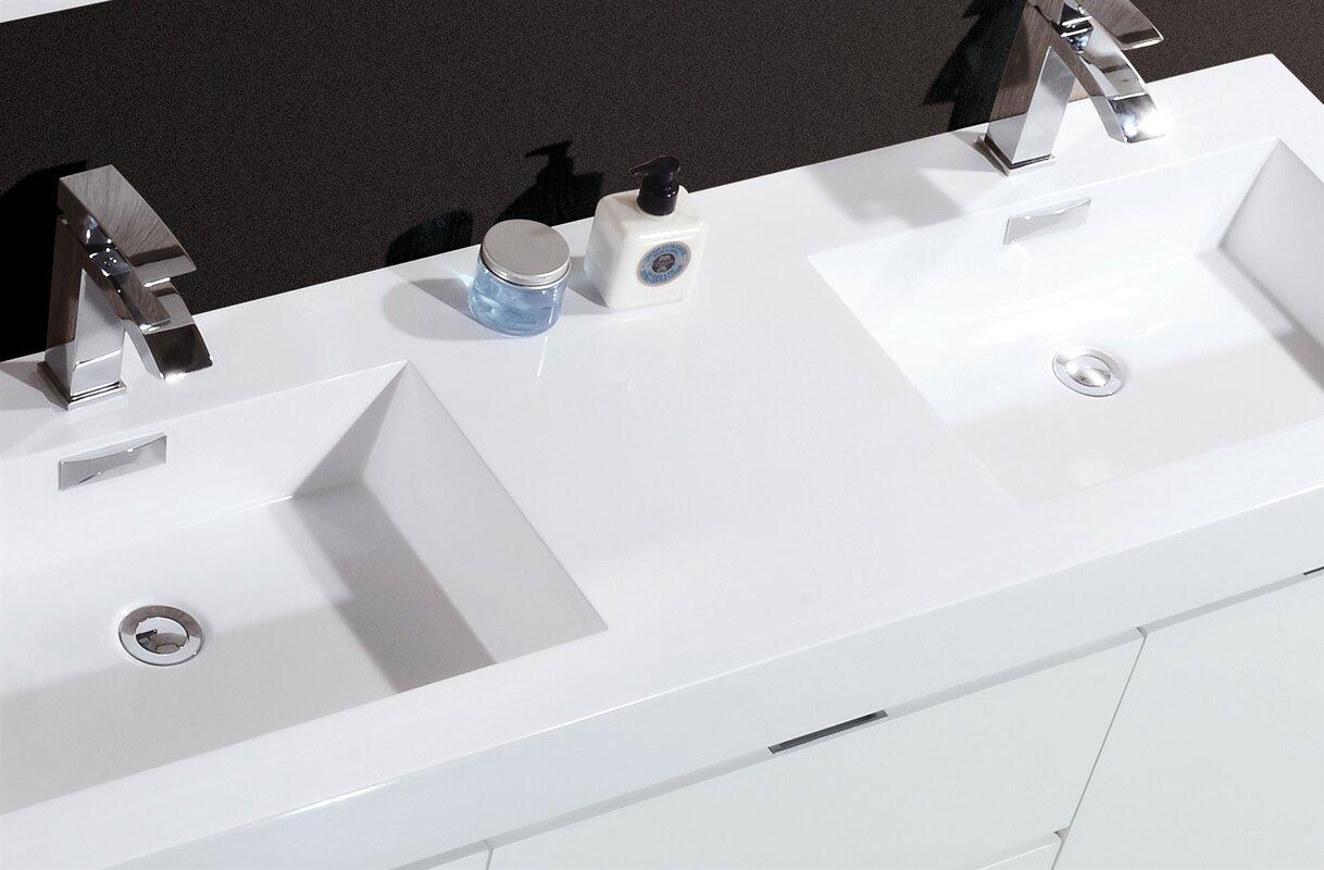 Wade Logan Tenafly 60 Quot Double Wall Mount Modern Bathroom