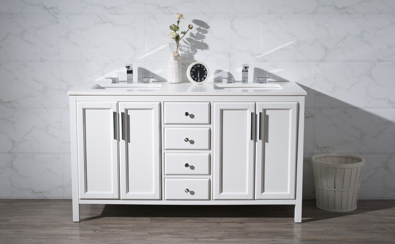 double bathroom vanity. Carpentier 59  Double Bathroom Vanity Set Brayden Studio Reviews