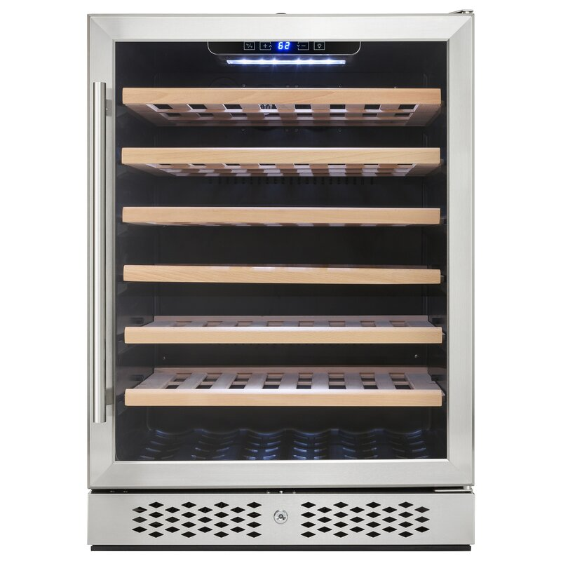 AKDY 54 Bottle Single Zone Free-standing Wine Cooler