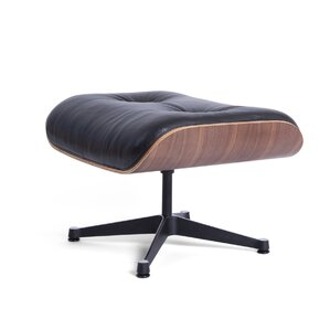 Manhattan Leather Ottoman by Mobital