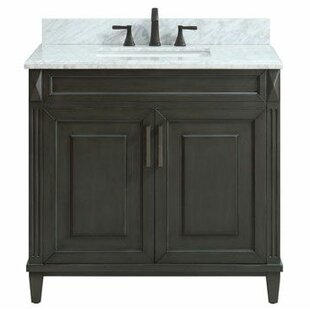 Potvin Marble Top 37 Single Bathroom Vanity Set