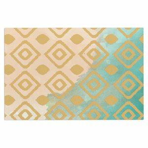 'Watercolor Ikat' Doormat
