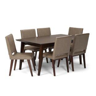 Halvorson Mid Century 7 Piece Dining Set
