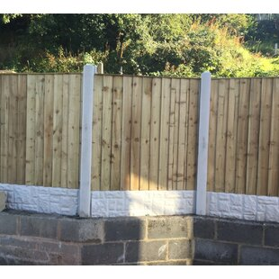 Dinh 6' x 2' (1.8m x 0.6m) Overlap Fence Panel by Lynton Garden