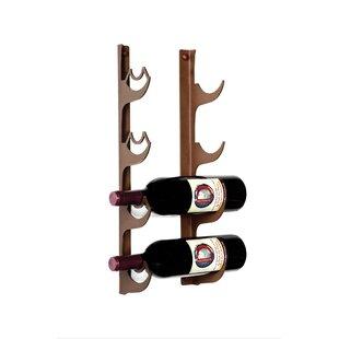 Insley 4 Bottle Wall Mounted Wine Rack