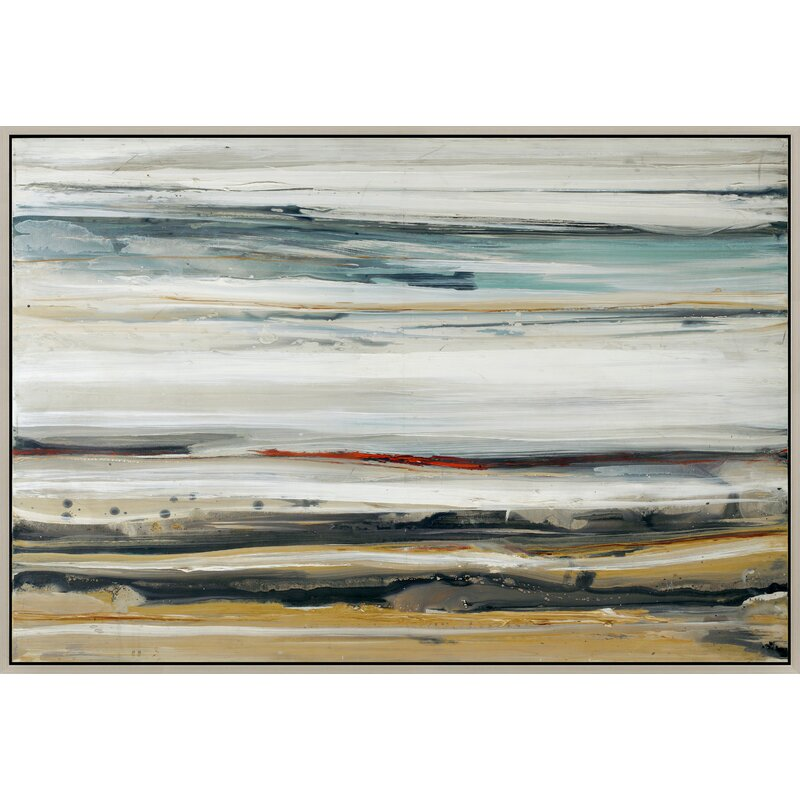 Color Swathe Framed Painting Print on Canvas & Reviews | AllModern
