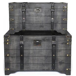 57a55eb62022 Vintage Steamer Trunk | Wayfair