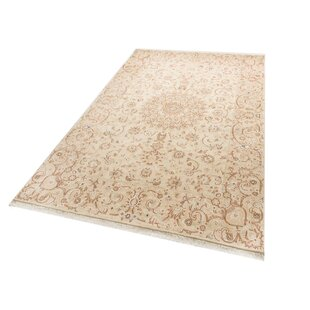 Nain 9LA Hand Knotted Wool Cream Rug by Parwis
