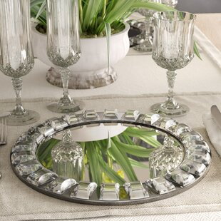Kohen 13\  Mirror Charger & Charger Plates You\u0027ll Love | Wayfair