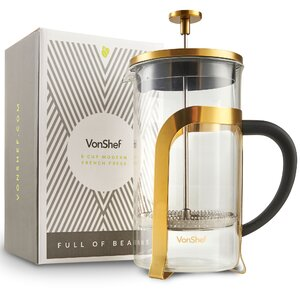 8-Cup Stainless Steel Heat Resistant French Press Coffee Maker