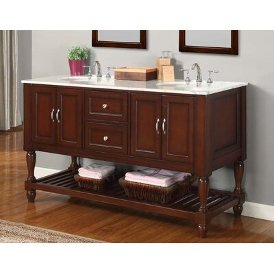 "Spa Bathroom Vanities direct vanity sink mission turnleg spa 60"" double bathroom vanity"