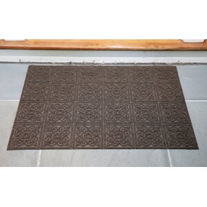 Gladiola Rectangle Rubber Back Doormat