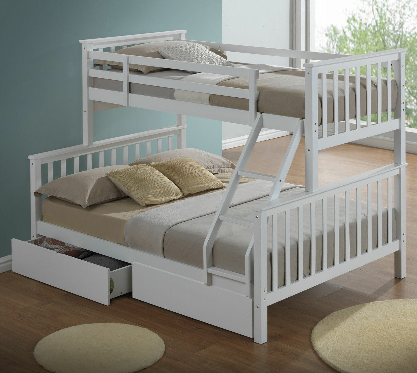 Home Loft Concept Mara Triple Sleeper Bunk Bed With Storage