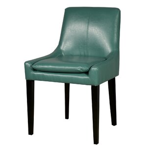 Merveilleux Turquoise Leather Chair | Wayfair