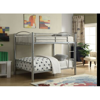 Agnes Metal Bunk Bed Harriet Bee Size: Full over Full, Bed Frame Color: Silver