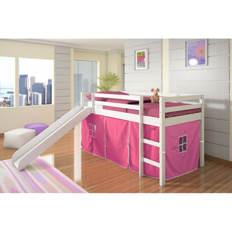 Ogden Tent Twin Low Loft Bed With Slide