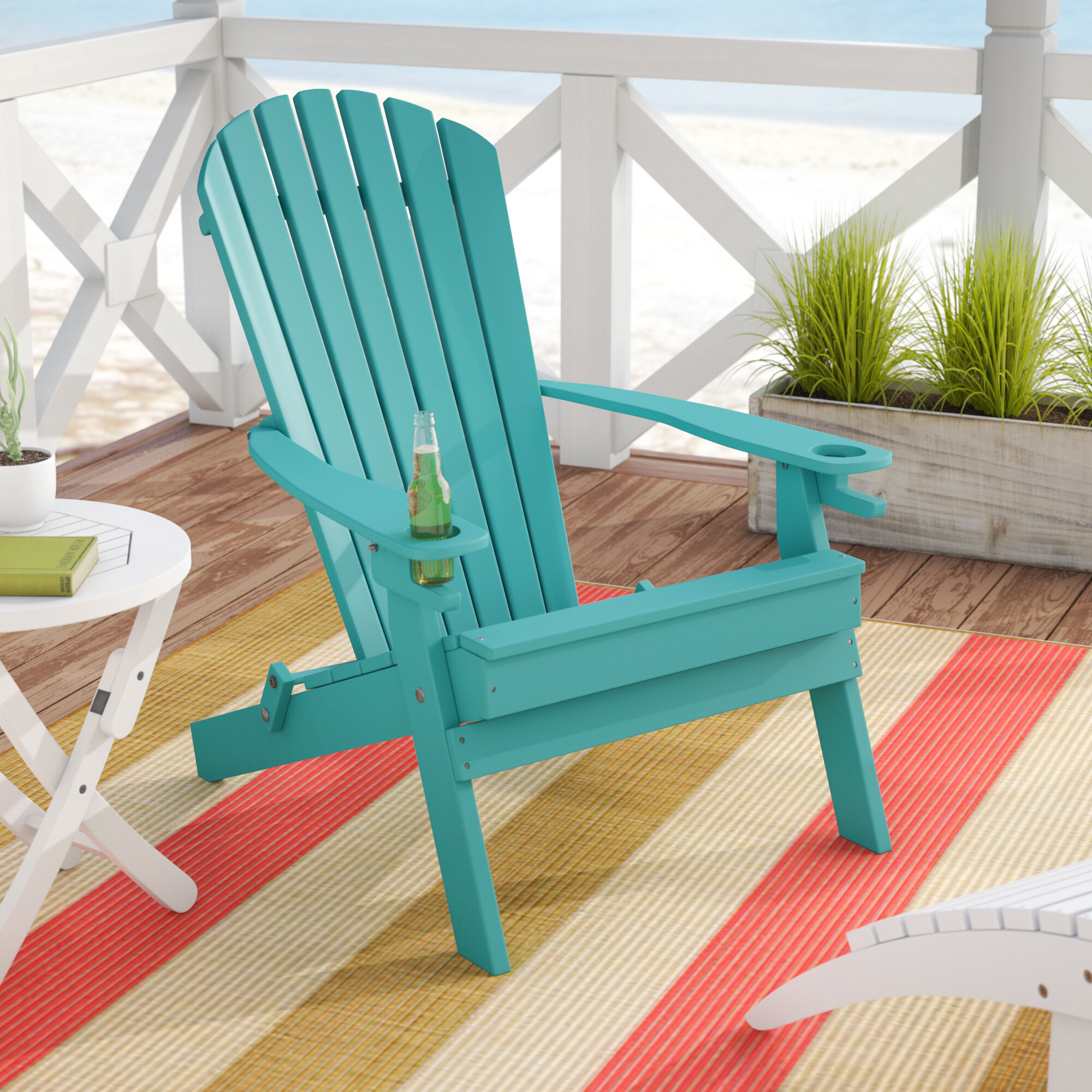 Beachcrest Home Aryana Plastic Folding Adirondack Chair & Reviews