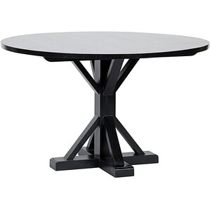 Criss-Cross Round Dining Table by Noir