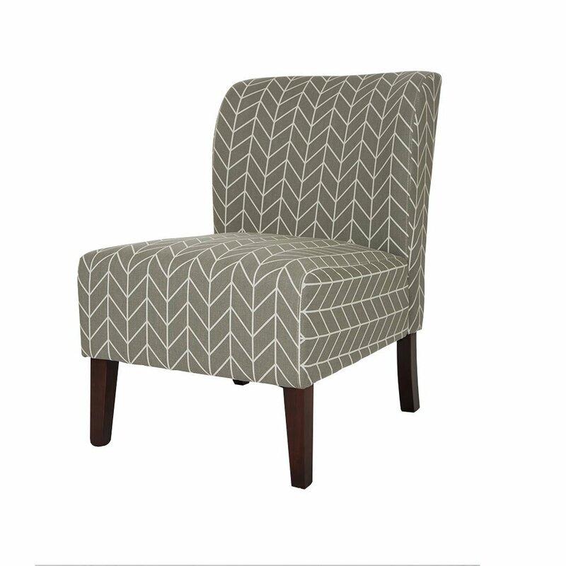 Herringbone Slipper Chair