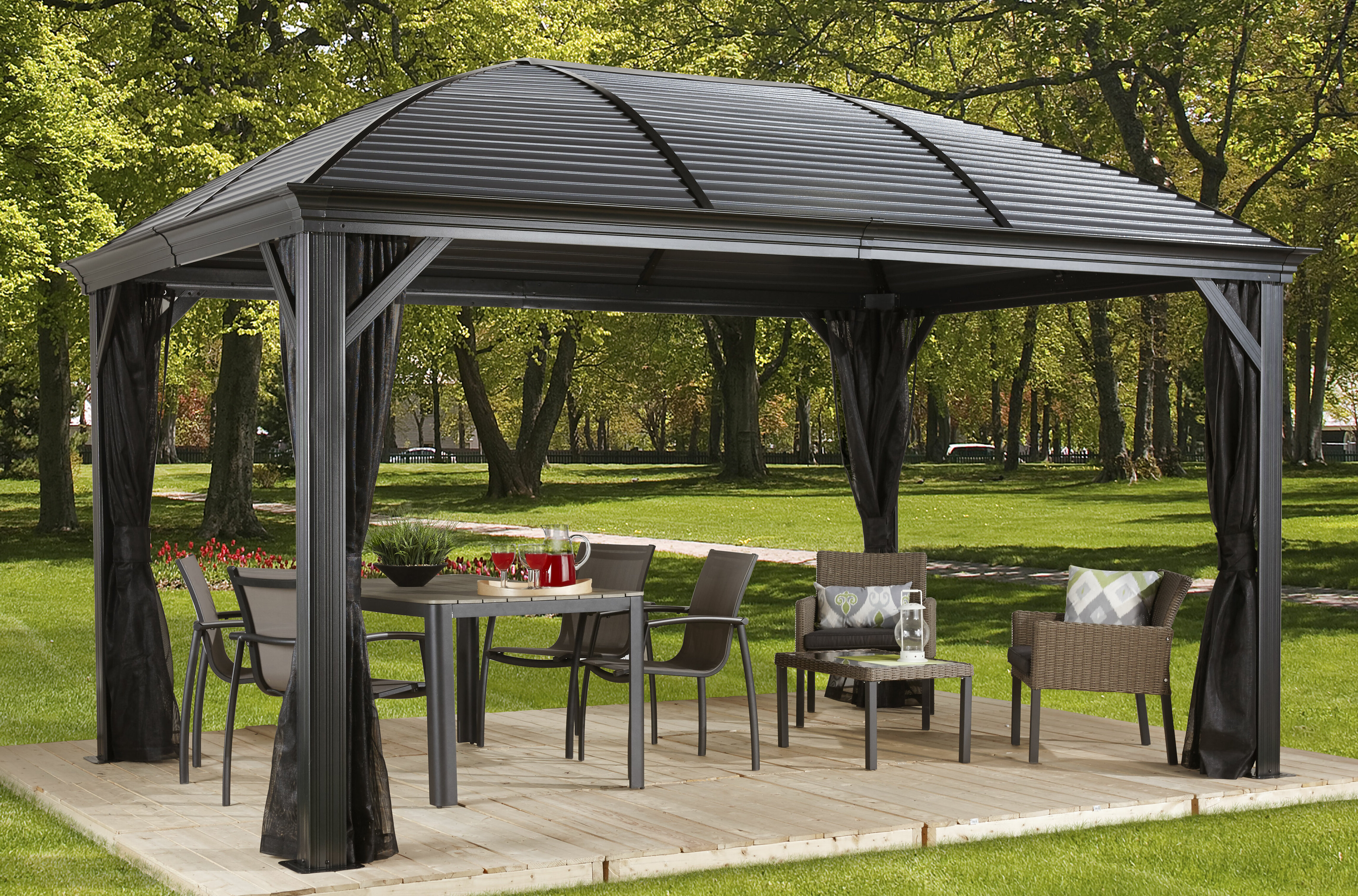 in cedar with seating bench l gazebo pergola ideas outdoor built new patio
