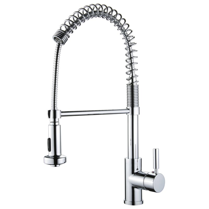 Spring Pull Out Single Handle Kitchen Faucet