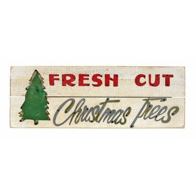 Fresh Cut Christmas Trees Sign.Fresh Cut Christmas Trees Sign Wall Decor
