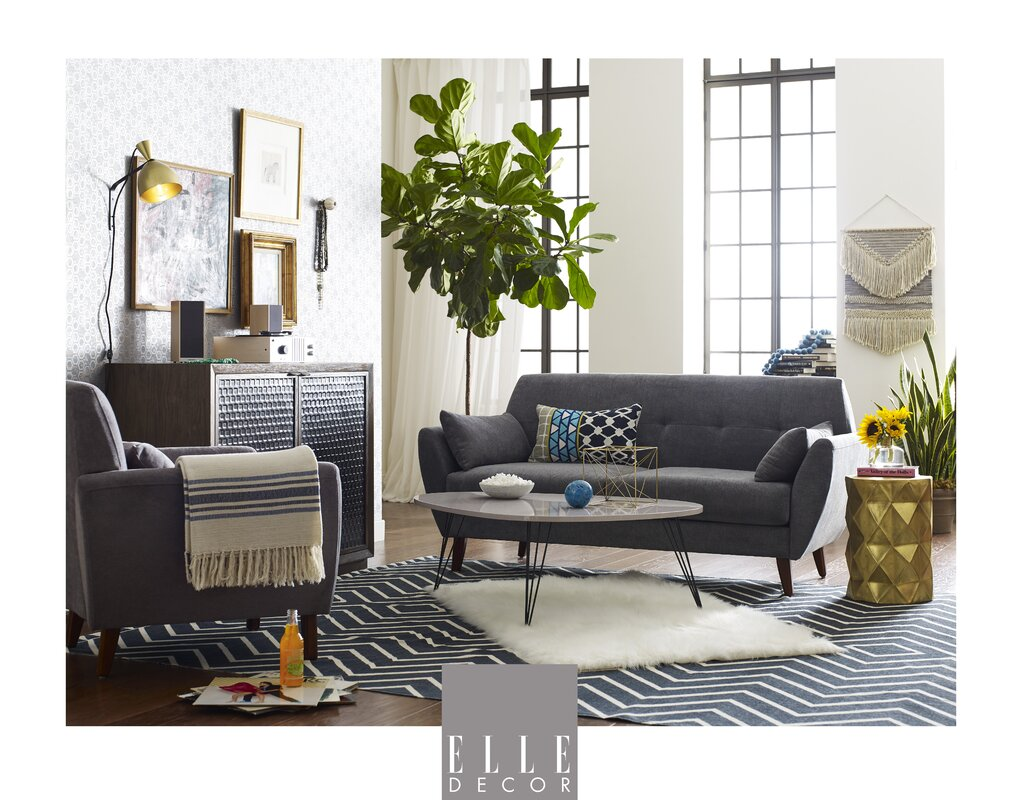 Elle Decor Amelie Mid Century Modern Sofa Amp Reviews