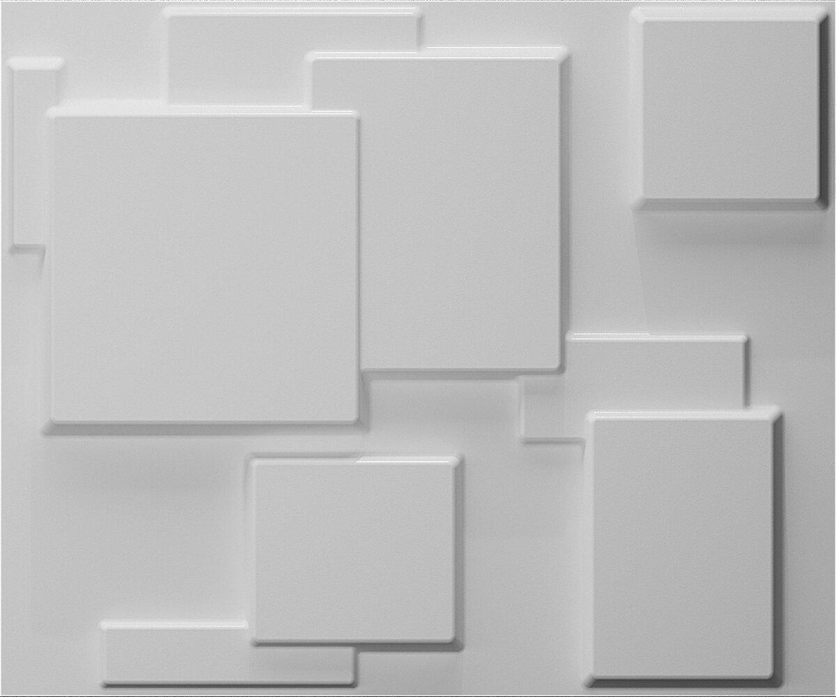 Instant Mosaic 3D Wall Cubes Wainscot Panels & Reviews | Wayfair