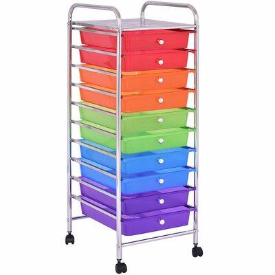 10 drawer rolling cart wayfair. Black Bedroom Furniture Sets. Home Design Ideas