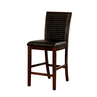 Onion Creek Counter Height Genuine Leather Upholstered Dining Chair (Set of 2)