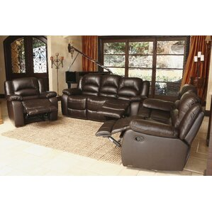 3 Piece Leather Living Room Set by Abbyson L..