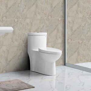 Sublimeu00ae 1.28 GPF Dual Flush Elongated One-Piece Toilet