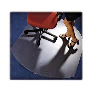 Contoured Low Medium Pile Carpet Beveled Edge Chair Mat