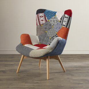 Ordinaire Malini Button Patchwork Upholstered Lounge Chair