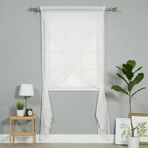 white swiss dot curtains | wayfair